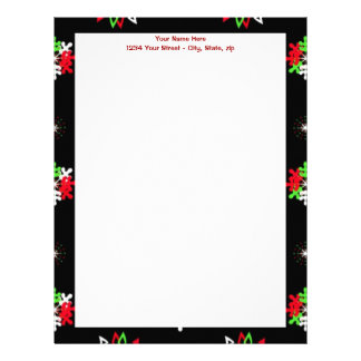 Holiday Pattern Brights Personalized Letterhead