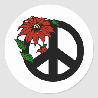 Holiday Peace Classic Round Sticker