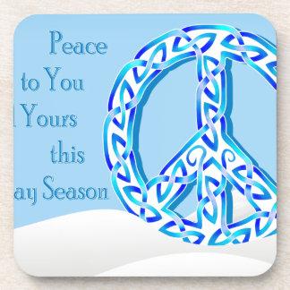 Holiday Peace Coaster