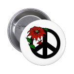 Holiday Peace Pinback Buttons