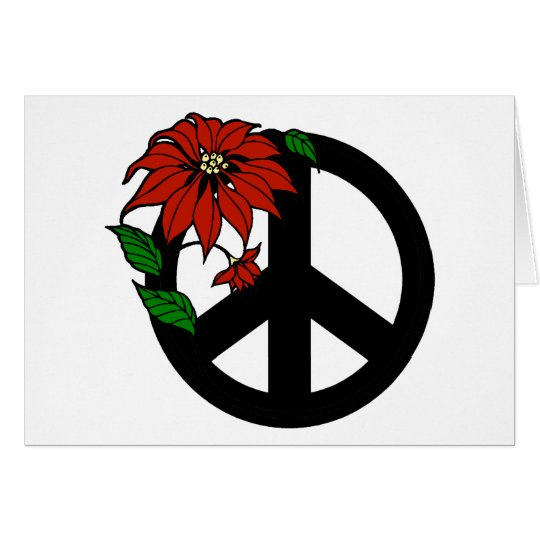 Holiday Peace Symbol Card