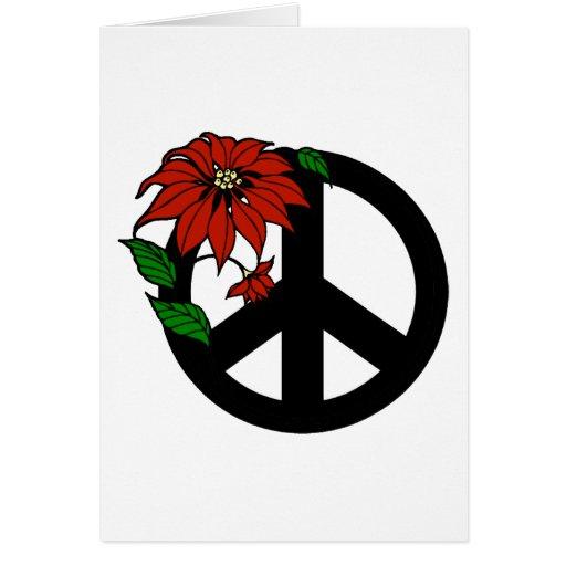 Holiday Peace Symbol Greeting Card