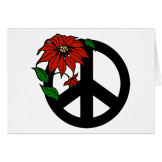 Holiday Peace Symbol Greeting Cards