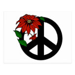 Holiday Peace Symbol Postcards