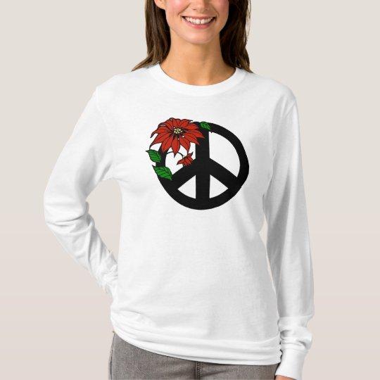 Holiday Peace Symbol T-Shirt Sweatshirt