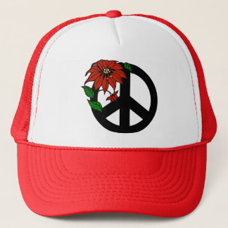 Holiday Peace Symbol Trucker Hat