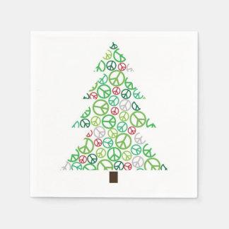 Holiday Peace Tree Paper Napkins