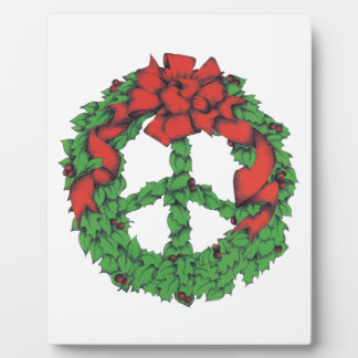 Holiday Peace Wreath Plaque