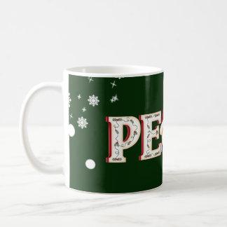 Holiday Peacel with Snowman Coffee Mug