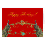 Holiday Peacock Greeting Cards