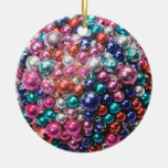 Holiday Pearl Bling Christmas Ornament
