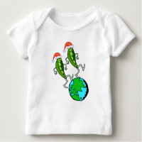 Holiday Peas on Earth Baby T-Shirt