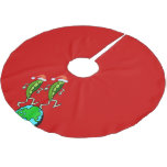 Holiday Peas on Earth Brushed Polyester Tree Skirt
