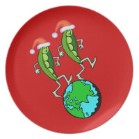 Holiday Peas on Earth Dinner Plate