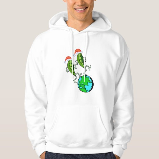 Holiday Peas on Earth Hoodie