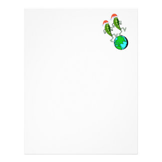 Holiday Peas on Earth Letterhead