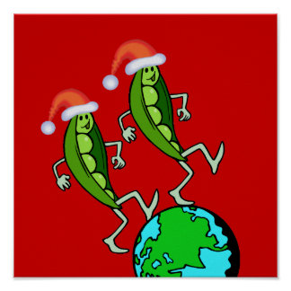 Holiday Peas on Earth Poster