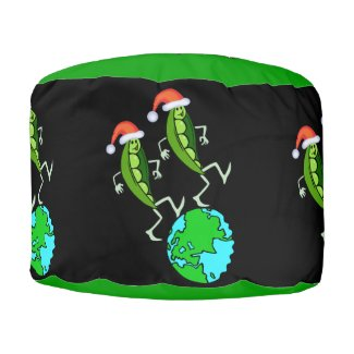 Holiday Peas on Earth pouf furniture