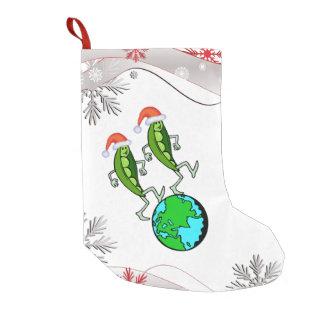 Holiday Peas on Earth Small Christmas Stocking