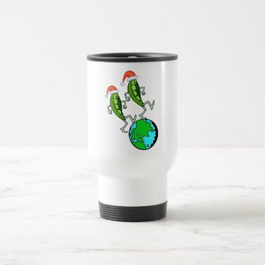 Holiday Peas on Earth Travel Mug
