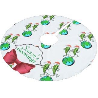 Holiday Peas on Earth Tree Skirt