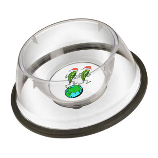 Holiday Peas on Earth Pet Bowl