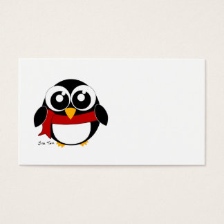 Holiday Penguin Business Card