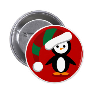 Holiday Penguin 2 Inch Round Button