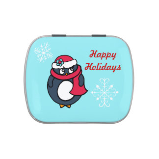 Holiday Penguin Candy Tin