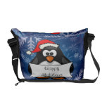 Holiday Penguin Courier Bag