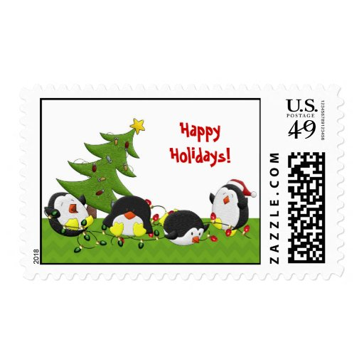Holiday Penguin Fun Stamps