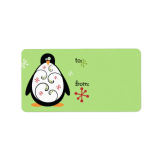 Holiday Penguin Gift Tags