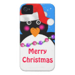 Holiday Penguin iPhone 4 Case