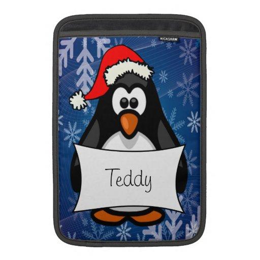Holiday Penguin MacBook Air Sleeves