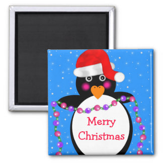 Holiday Penguin Magnet
