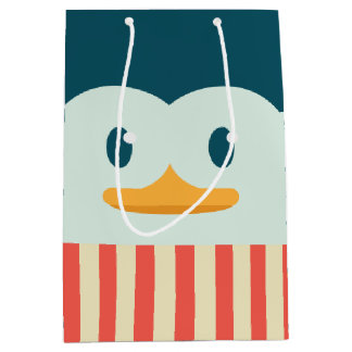 Holiday Penguin Medium Gift Bag