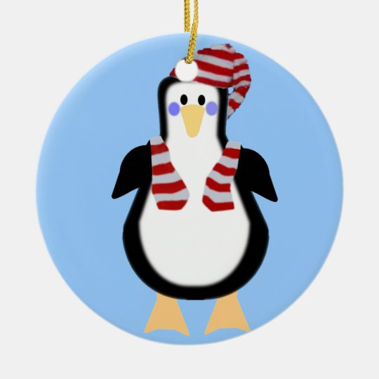 Holiday Penguin - Ornament