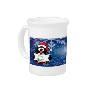 Holiday Penguin Beverage Pitchers