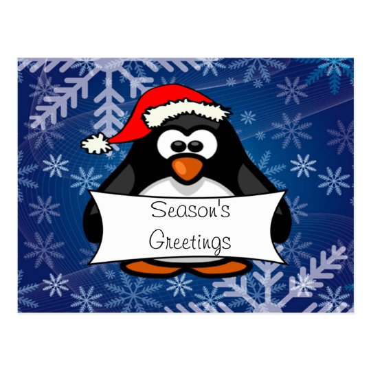 Holiday Penguin Postcard