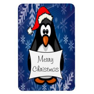 Holiday Penguin Rectangular Photo Magnet