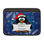 Holiday Penguin Sleeves For MacBook Air