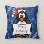 Holiday Penguin Throw Pillows