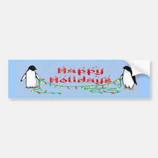 Holiday Penguins Bumper Sticker