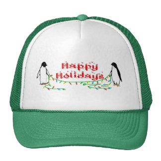 Holiday Penguins Trucker Hat