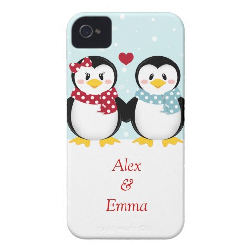 Holiday PEnguins iPhone Case iPhone 4 Case