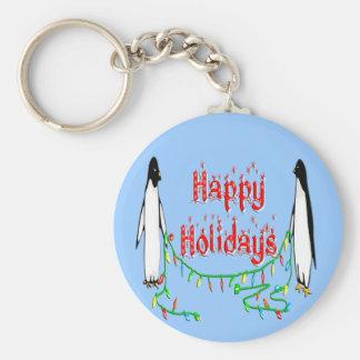 Holiday Penguins Keychain