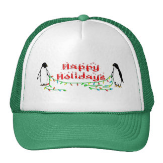 Holiday Penguins Trucker Hat
