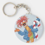 Holiday Pepe Basic Round Button Keychain