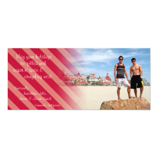 Holiday Peppermint Candy Card