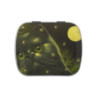 HOLIDAY PERSIAN CAT CANDY JELLY TIN CANDY TINS